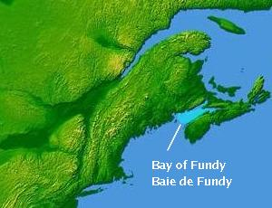 Karte von Bay of Fundy