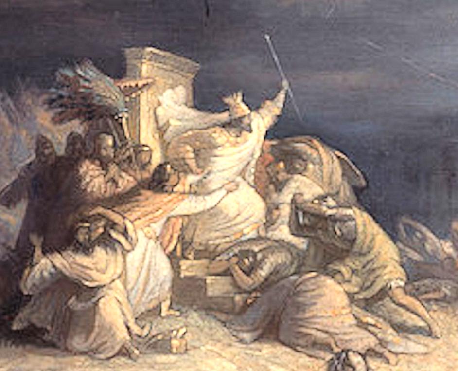 خشم خشایارشا از نبرد سالامیس توسط ویلهلم فون کولباخ