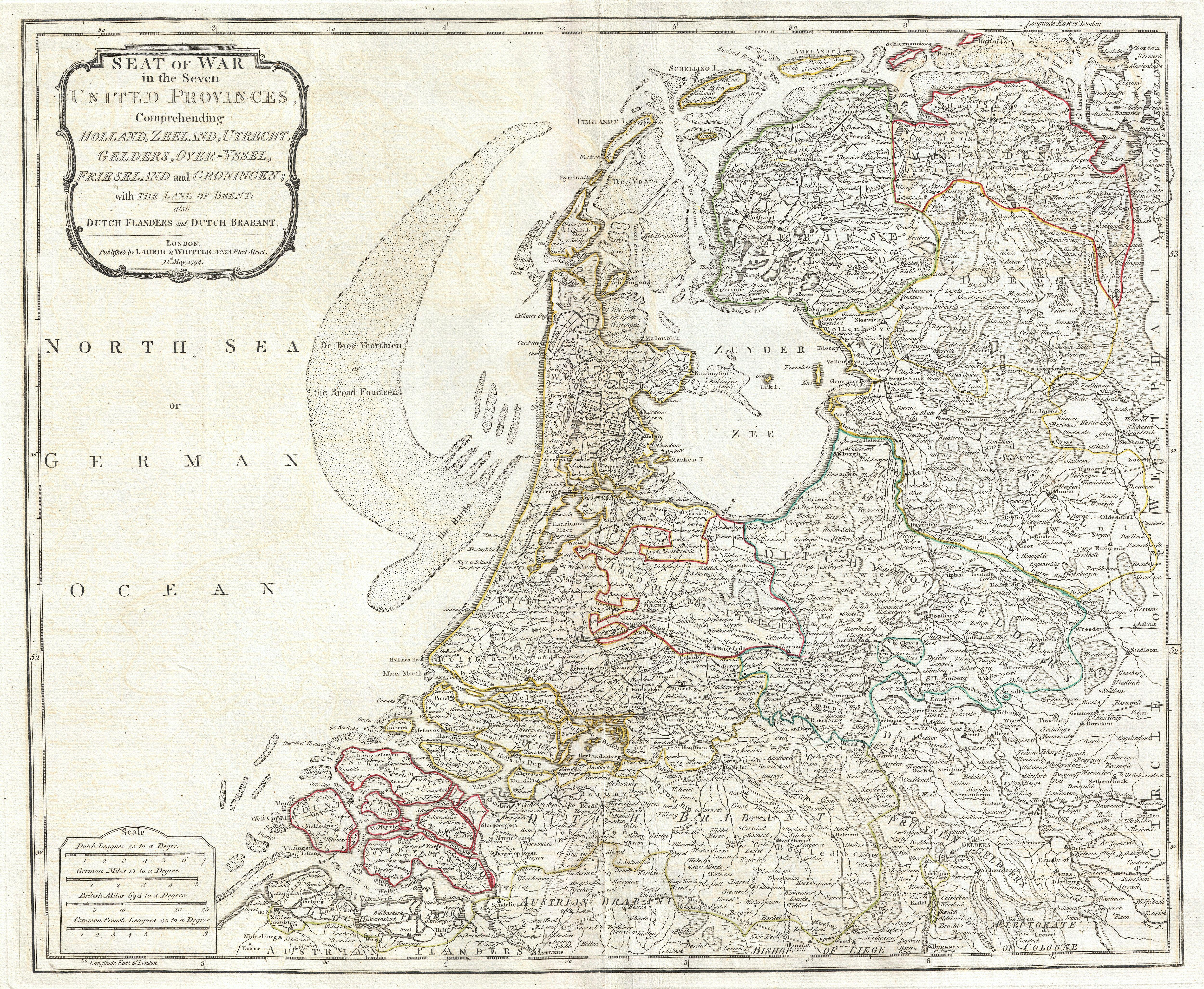 File 1794 Laurie And Whittle Map Of Holland Or The