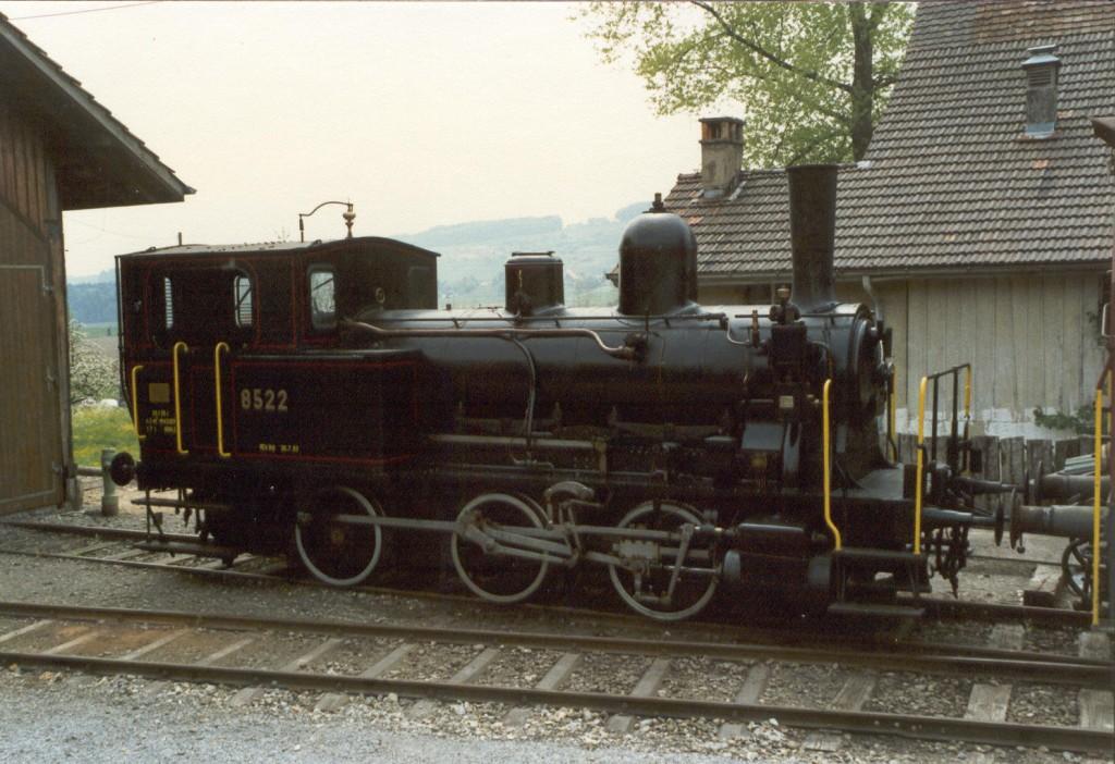lokomotywa E 3/3 8522 w stanie obecnym