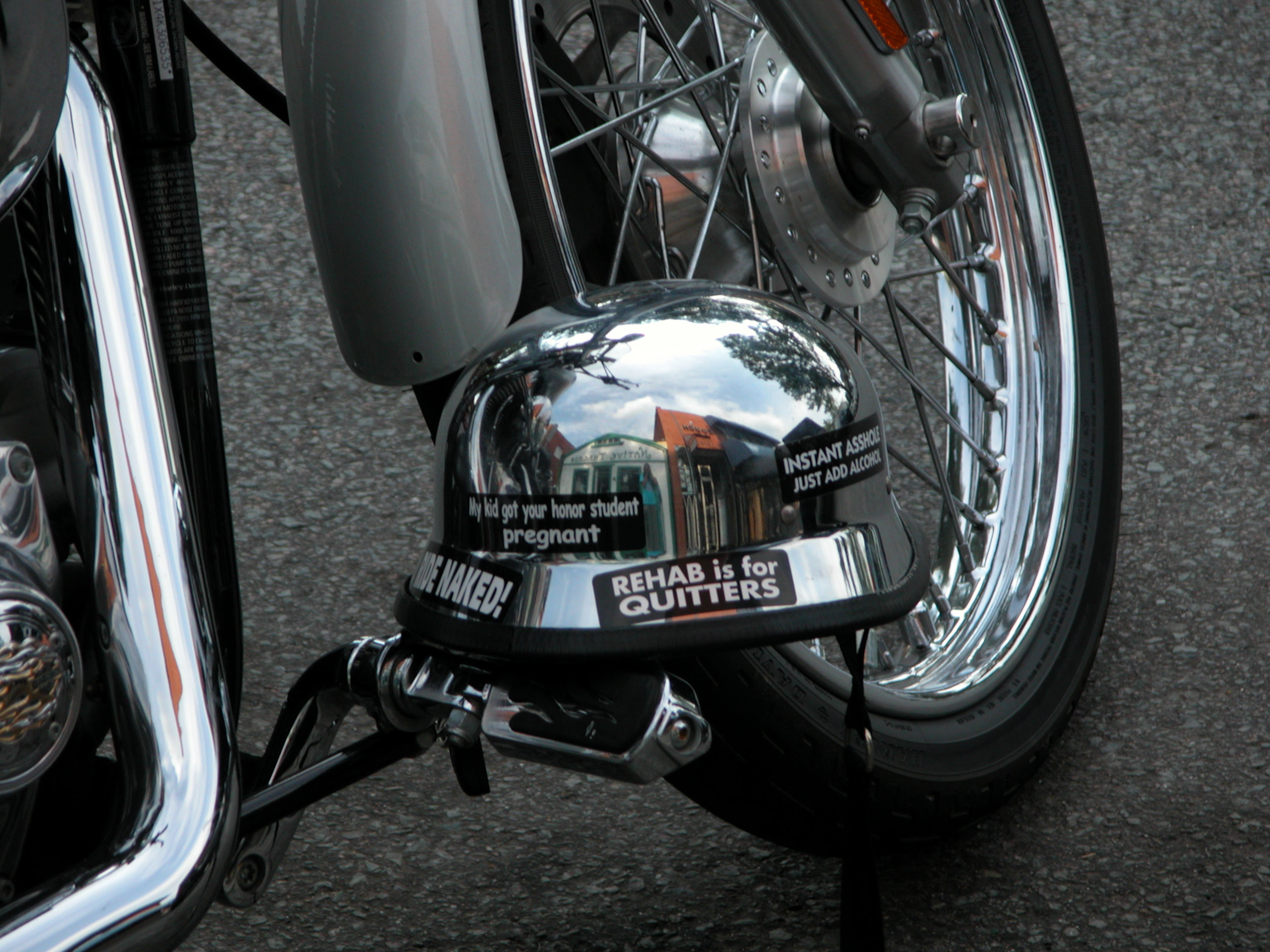 Helmet sticker