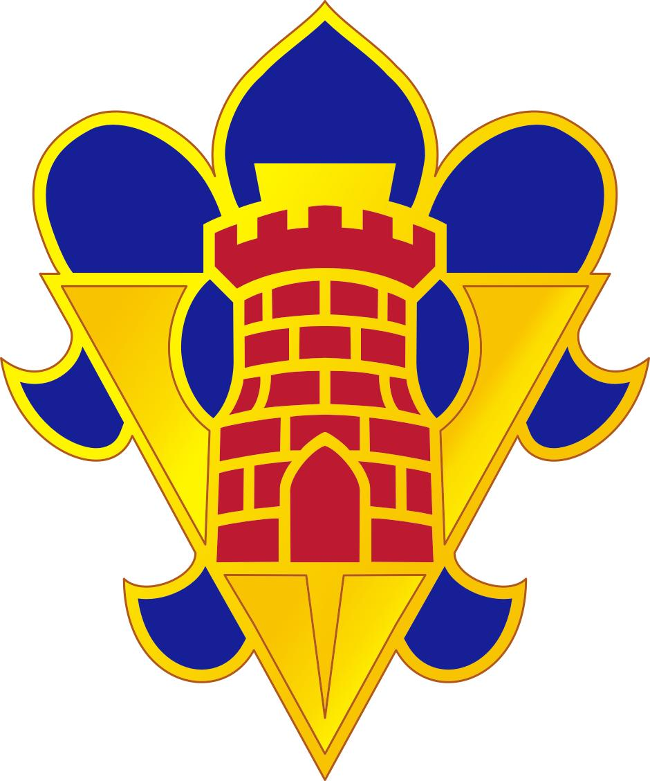 English: 5th armored brigade crest