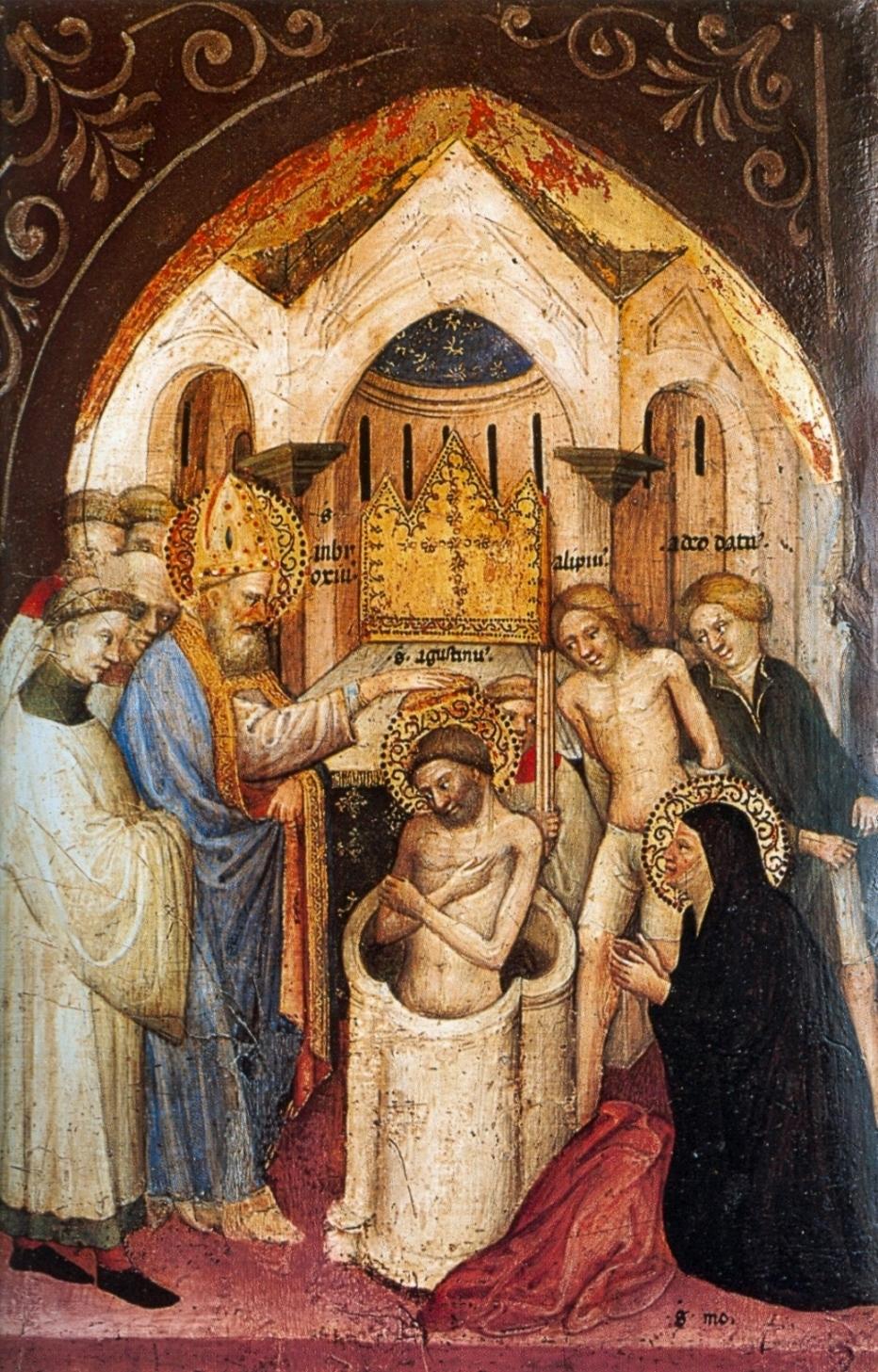 File:8 Nicolo di Pietro,1413-15. The Saint Augustine Baptized by