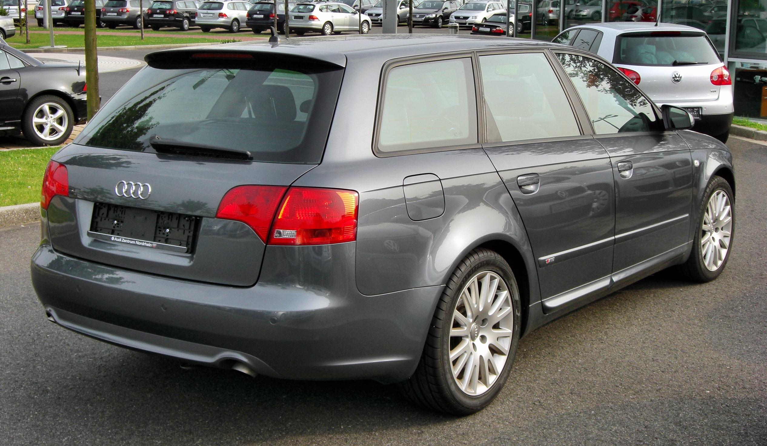 file audi a4 b7 avant s line 20090809 rear jpg wikimedia commons. Black Bedroom Furniture Sets. Home Design Ideas