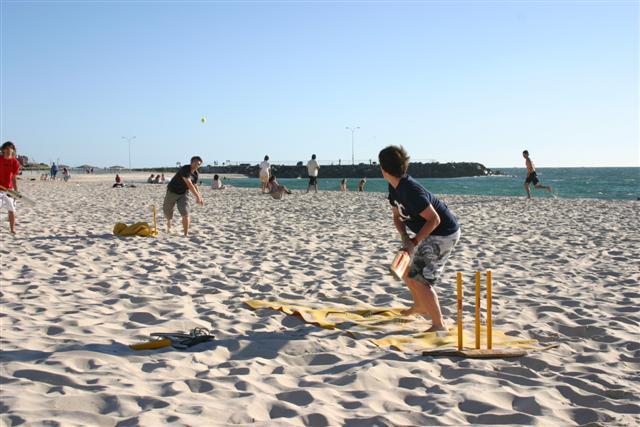 Beach Cricket, popular Aussie past time