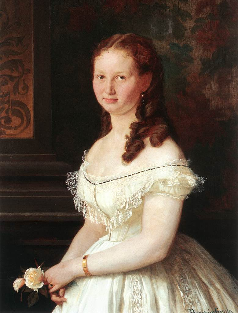 Бенцур, Дьюла - Молодая девушка с розами (1868).jpg