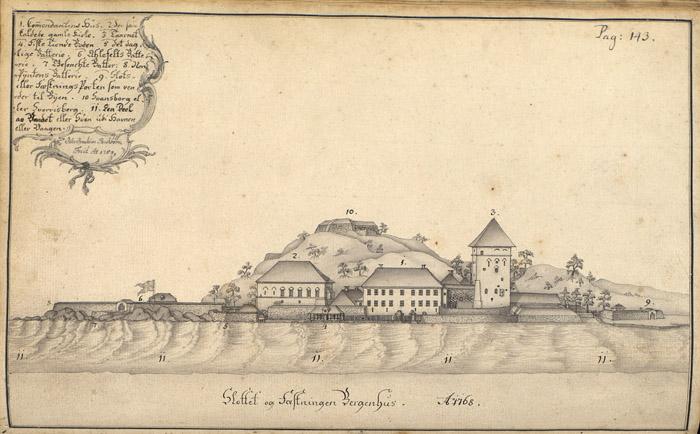 Bergenhus festning, Håkonshallen og Rosenkrantztårnet.jpg