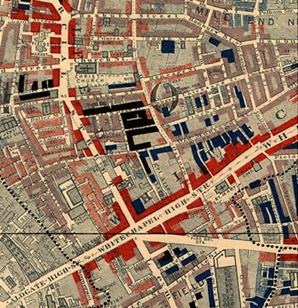 Booth map of Whitechapel