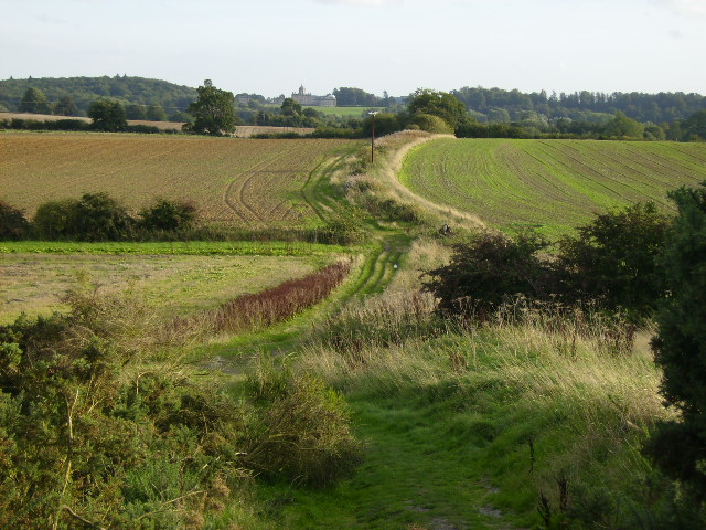 Bridleway over Sand Hill with Castle Howard in the distance - geograph.org.uk - 243729