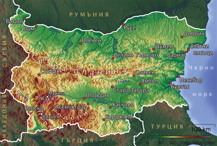 karta bugarske Geografija Bugarske — Vikipedija, slobodna enciklopedija karta bugarske