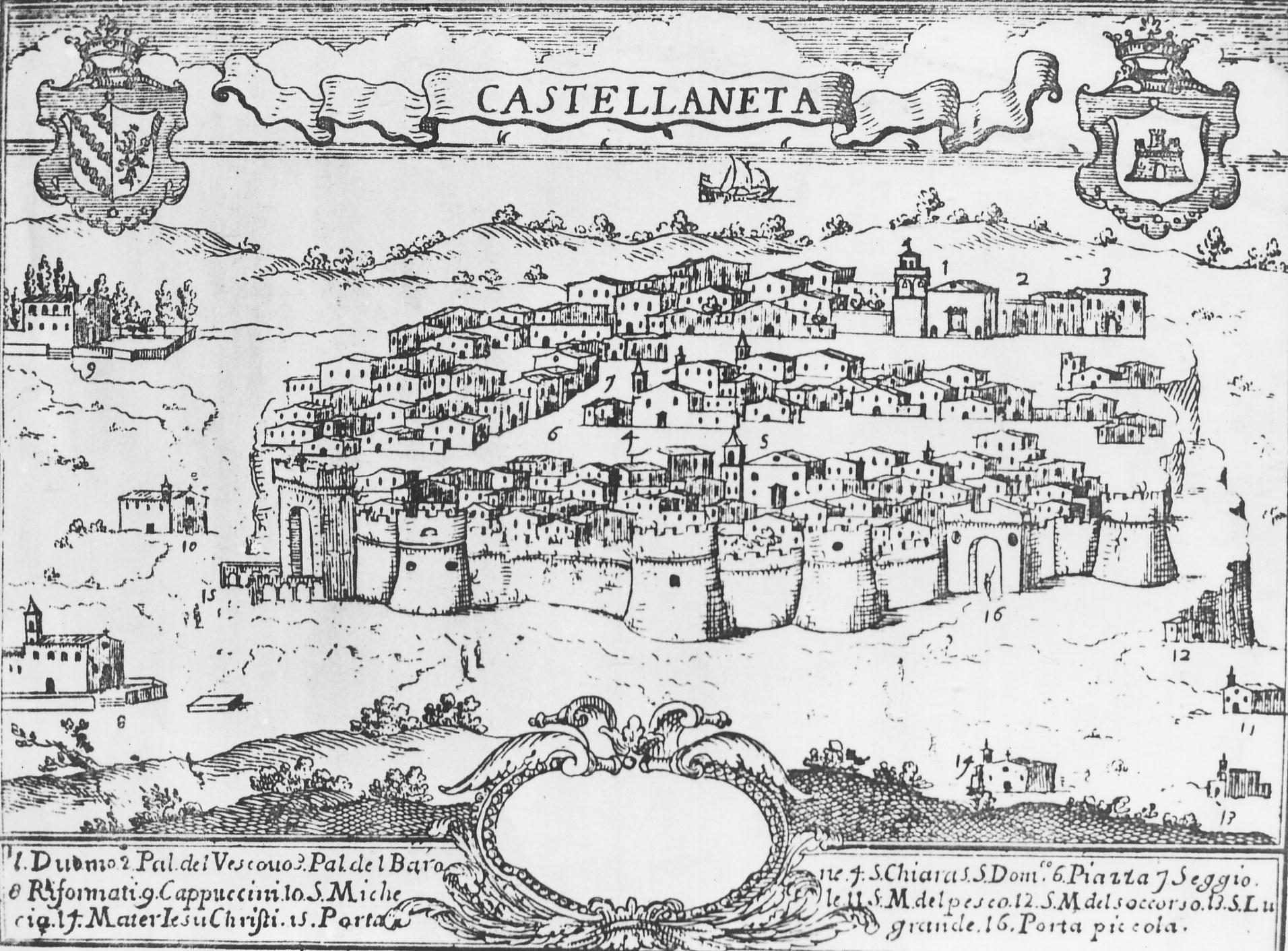 Castellaneta centro storico nel 1700