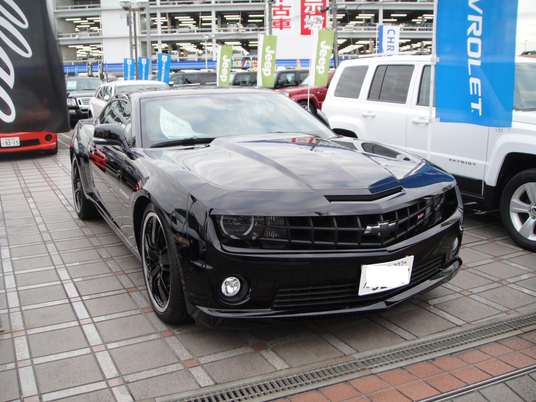 File Chevrolet Camaro Ss Rs Black Jpg Wikimedia Commons
