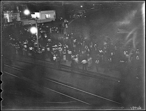 Only known photograph of Christie Pits riot By unknown Globe and Mail photographer [Public domain or Public domain], via Wikimedia Commons