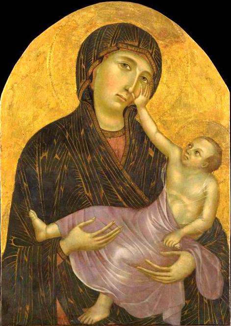 Дева Мария с Ребёнком - Страница 2 Cimabue_madonna_castefliorentino