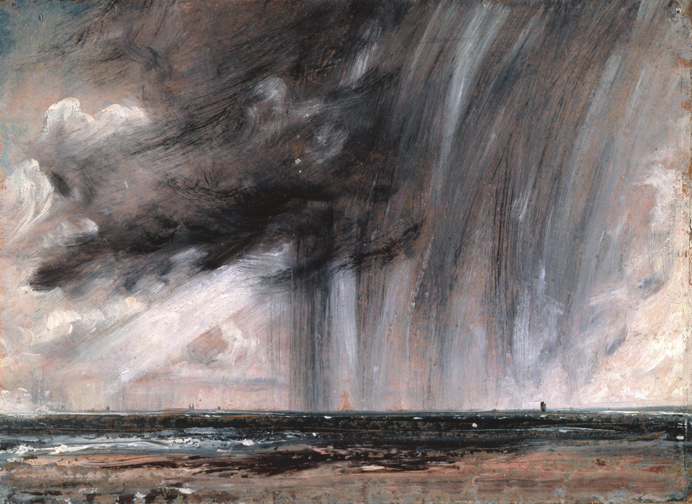 John Constable - Seascape Study with Rain Cloud, 1827 ...