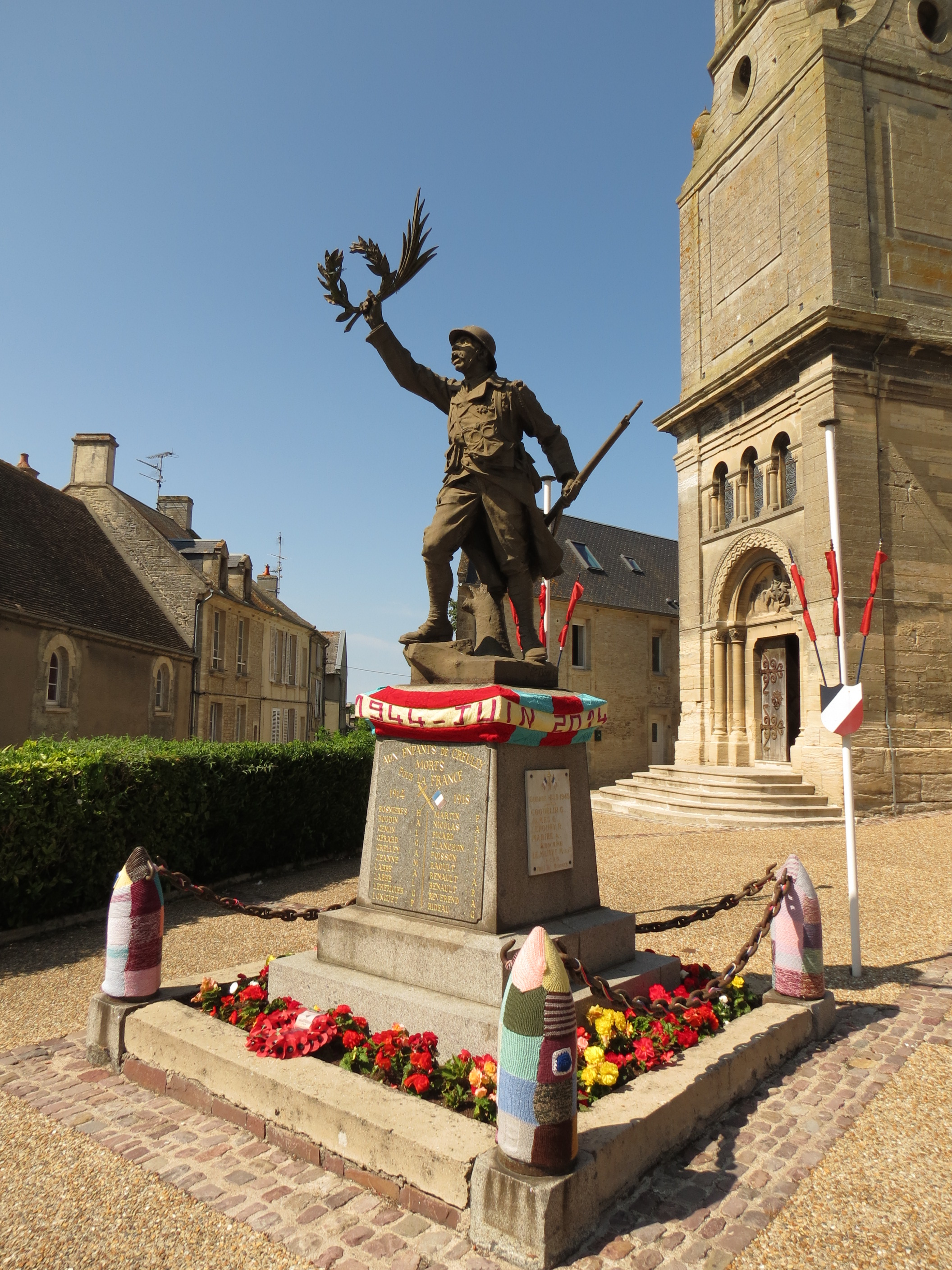 In front of the church there is a WWI memorial