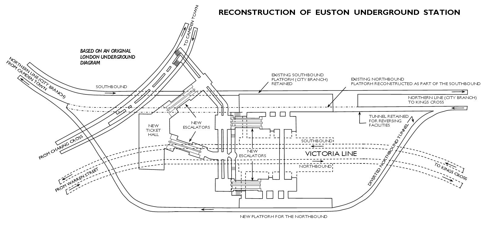Euston tube station layout - The Victoria Line's really big 50th birthday!