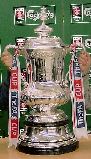 The FA Cup — this is the fourth trophy, in use since 1992, and identical in design to the third trophy introduced in 1911