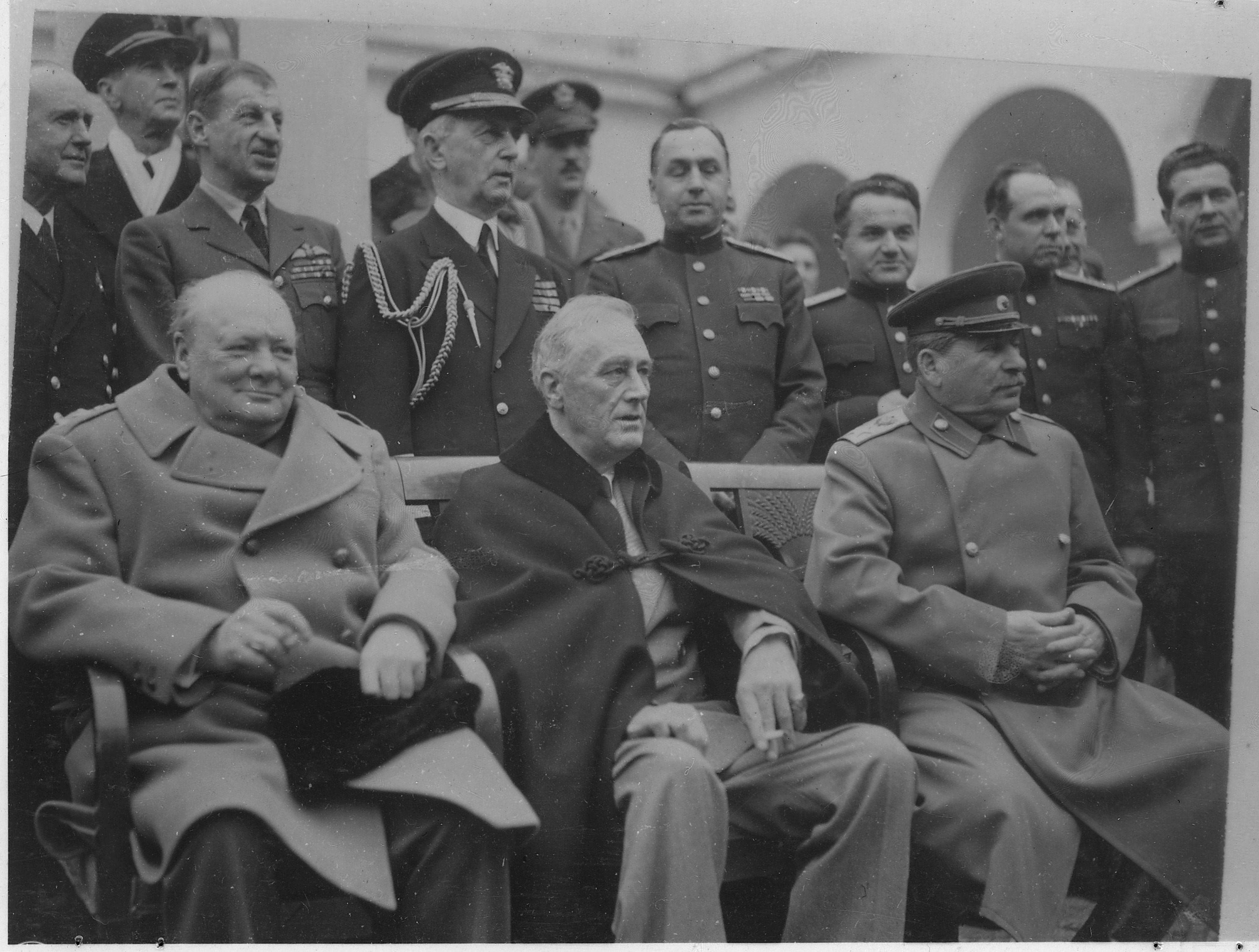 churchill roosevelt and stalin meet at yalta