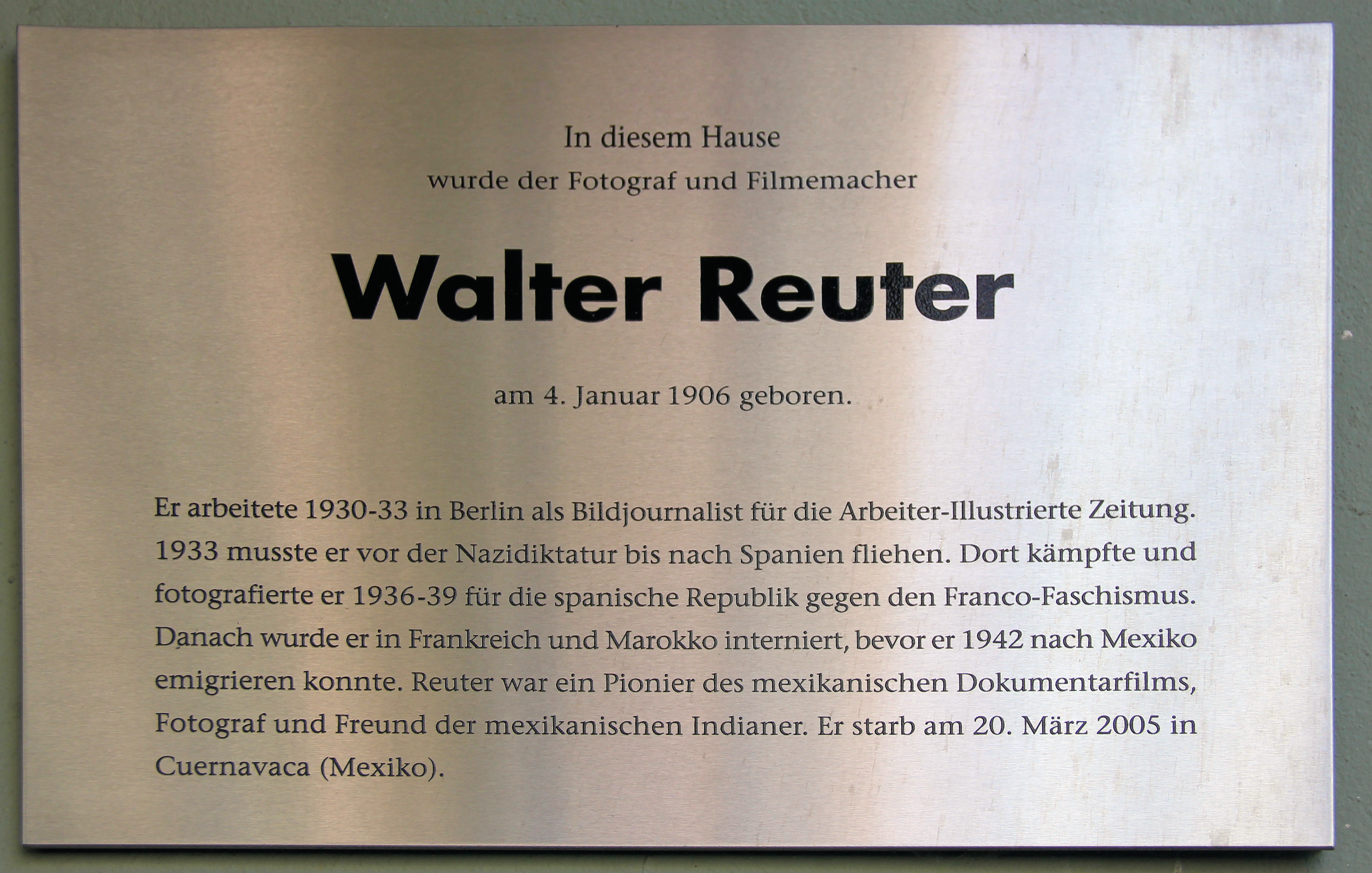 Image of Walter Reuter from Wikidata