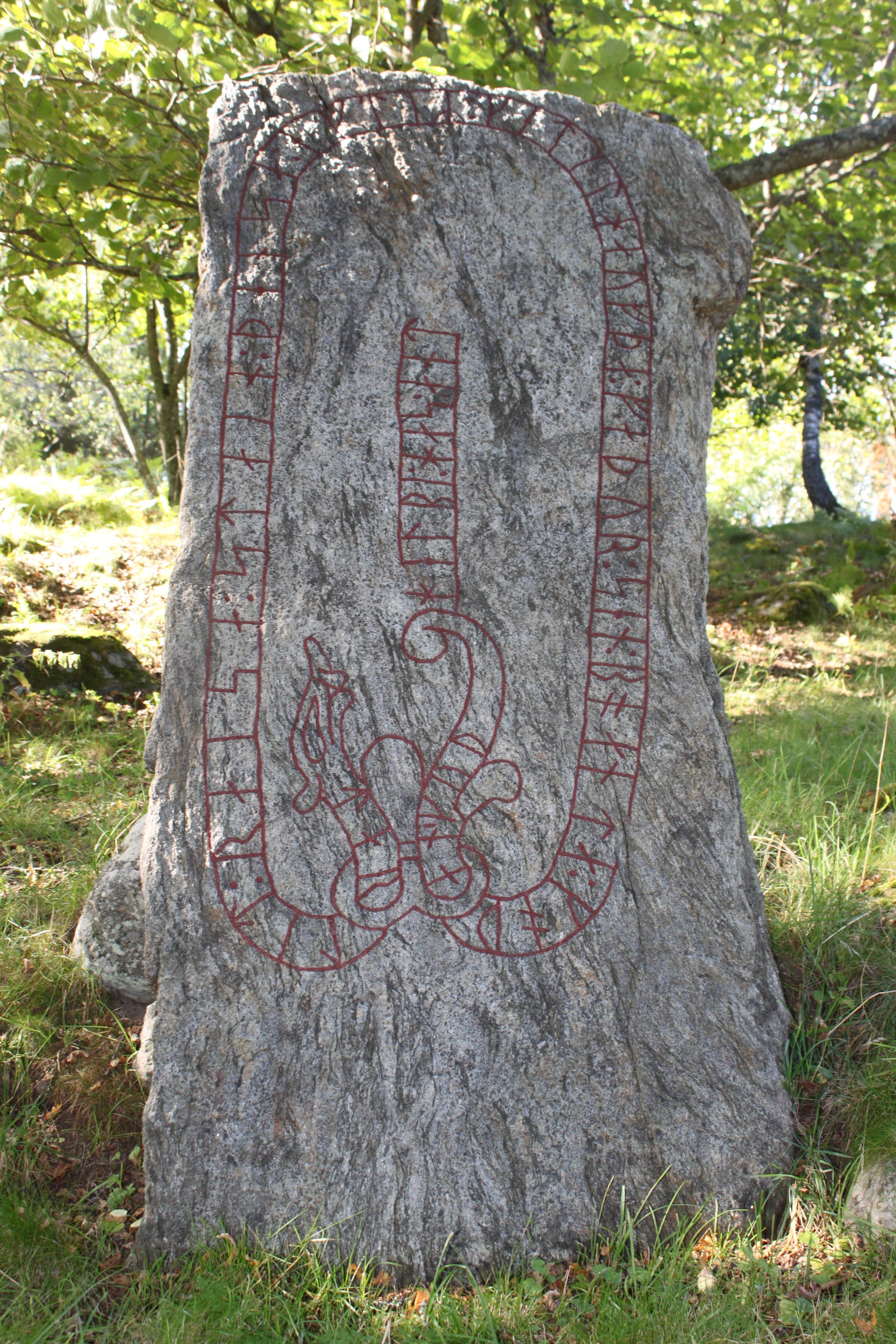 Sengustaviansk stol med lotusstavar i ryggen, frn sterby i