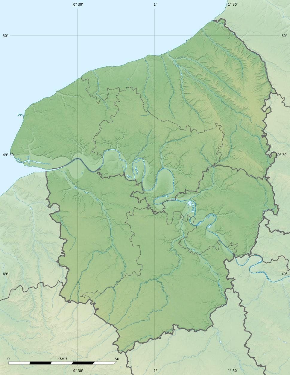 G ographie de la haute normandie wikip dia for Haute normandie basse normandie