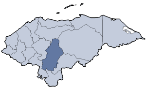 Location of Francisco Morazán department