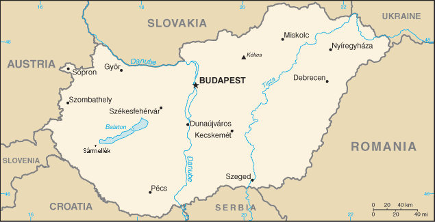 List of airports in hungary wikiwand map of hungary publicscrutiny Choice Image