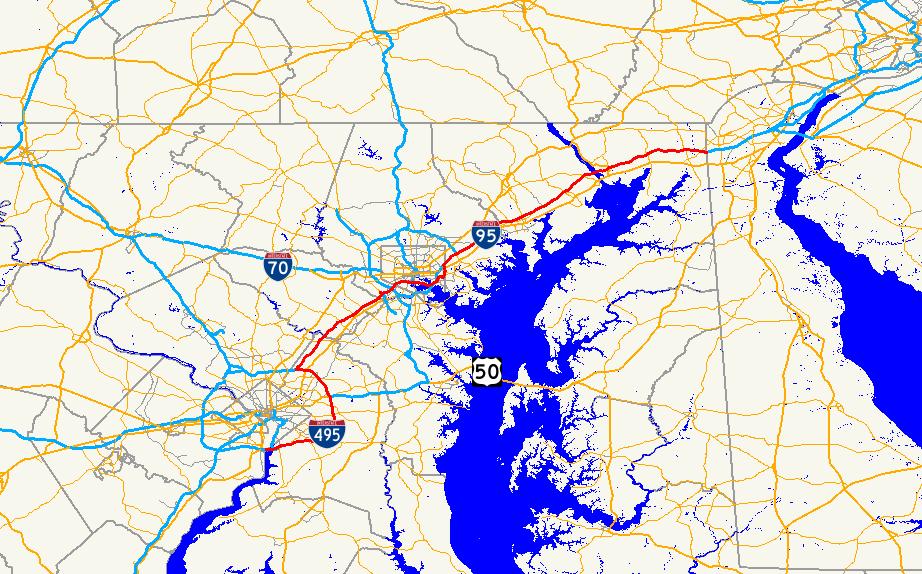 Interstate 95 in Maryland Wikipedia