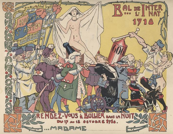Wikimedia Commons. Bal Bullier, invitasjonskort | http://upload.wikimedia.org/wikipedia/commons/c/c7/Invitation_dame_au_Bal_de_l%27Internat_1910_%C3%A0_Bullier.jpg