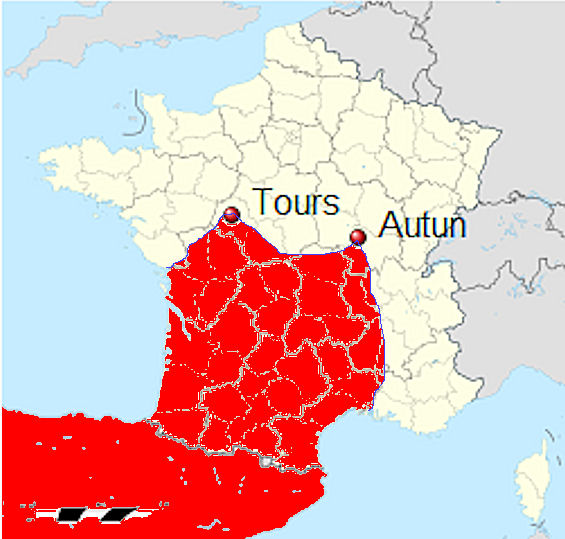 FileIslamic expansion in France in the 8th centuryjpg Wikimedia