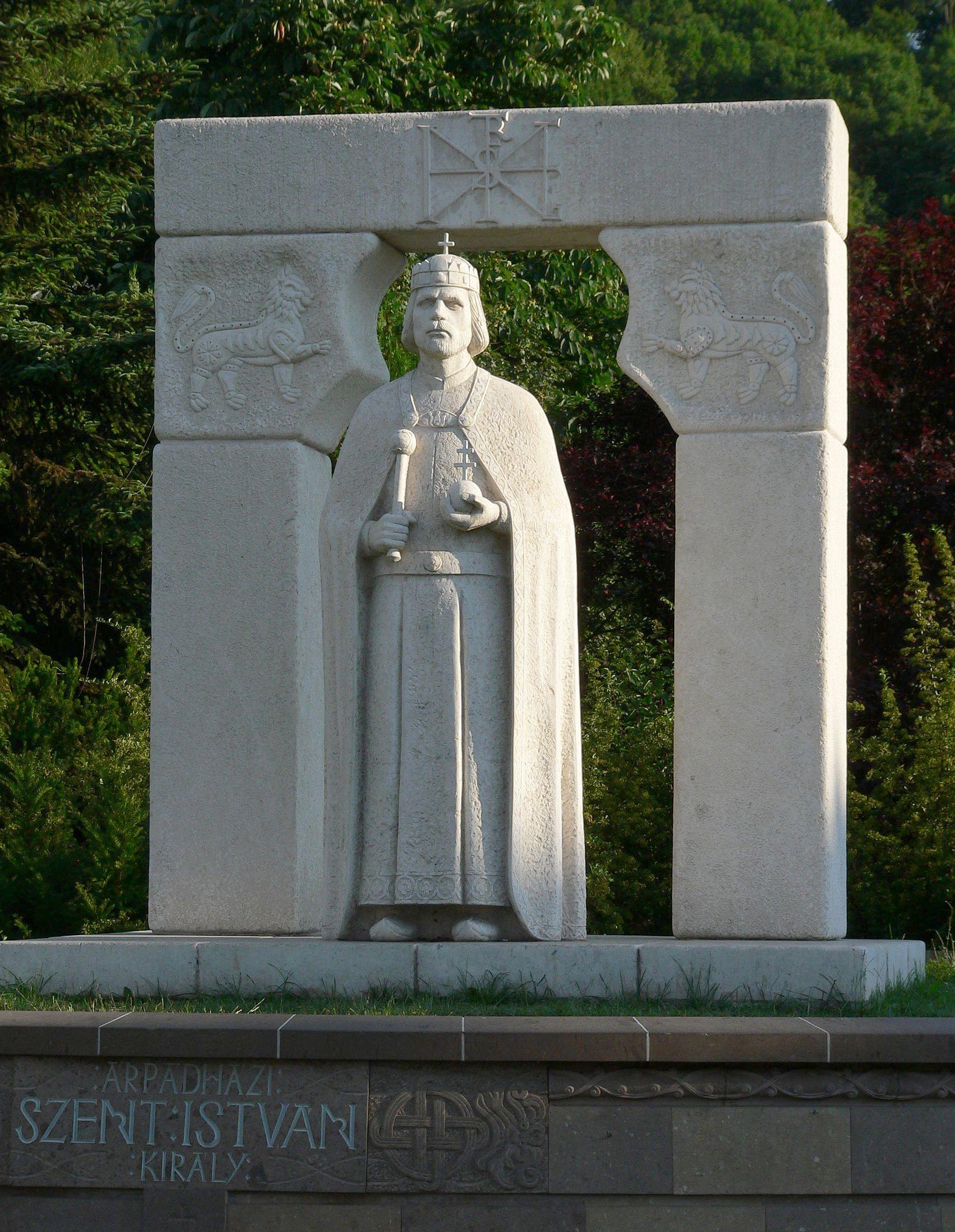 Jószeg Zsolt: Statue av den første ungarske kongen Stefan i Miskolc (2001)