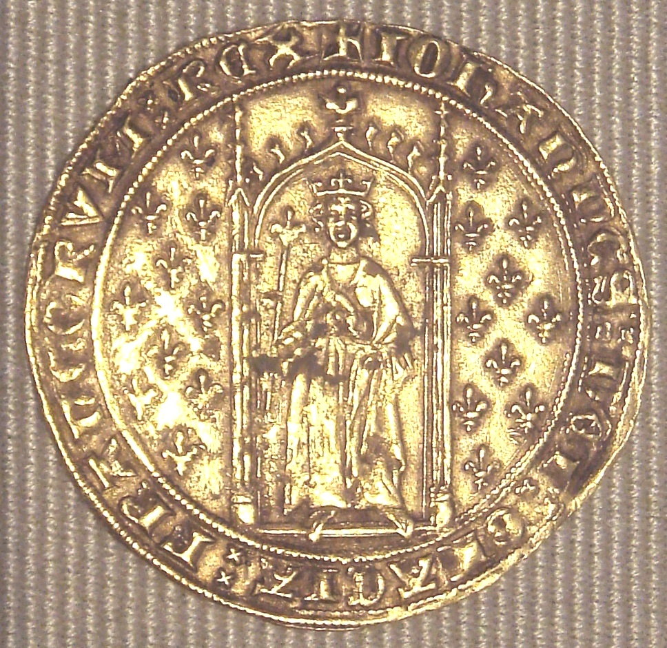 File:Jean II denier d Or aux fleurs de lys 1351.jpg