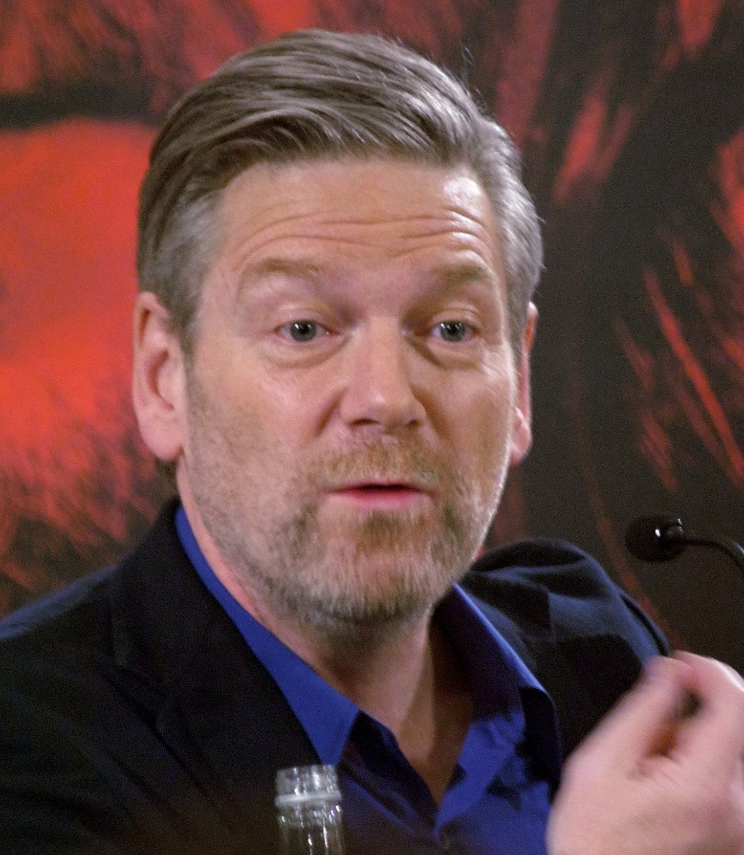 Branagh at a press conference for ''[[Thor (film)| Thor]]'' in 2011