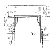 Lintel structural horizontal block that spans the space or opening between two vertical supports
