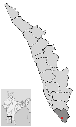Localisation de District de Thiruvananthapuram