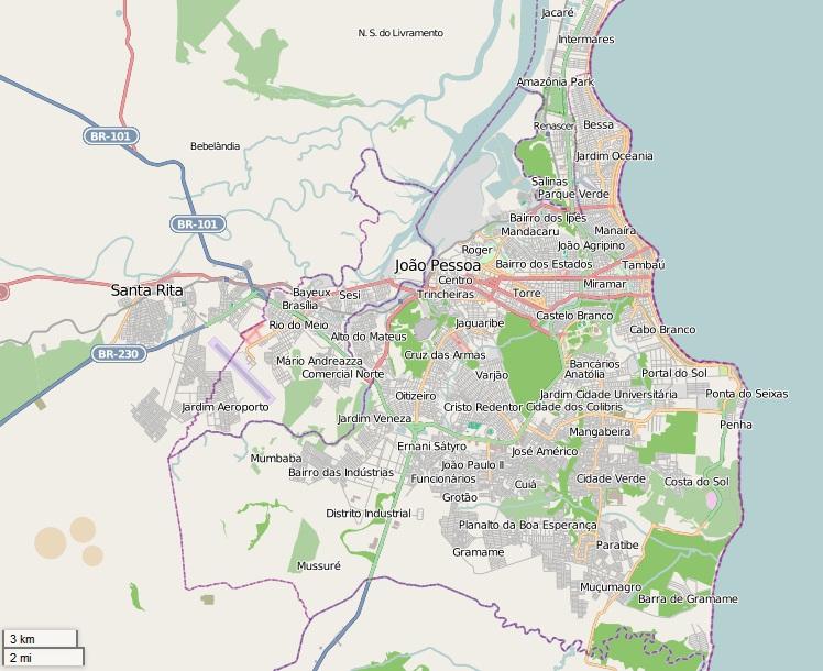 joao pessoa mapa Ficheiro:Mapa de João Pessoa e regiões próximas. – Wikipédia, a  joao pessoa mapa