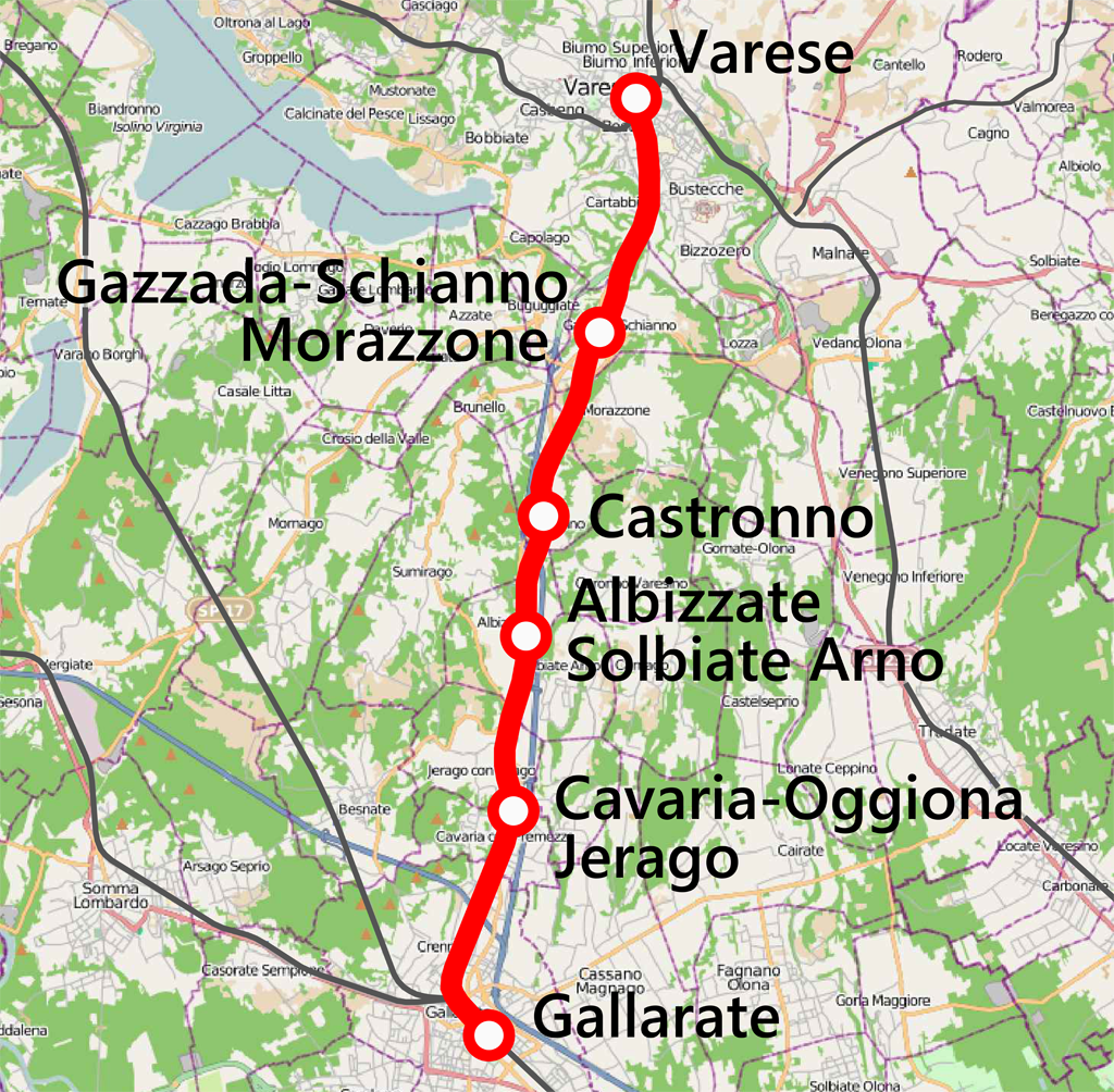 K Che 3000 ferrovia gallarate varese