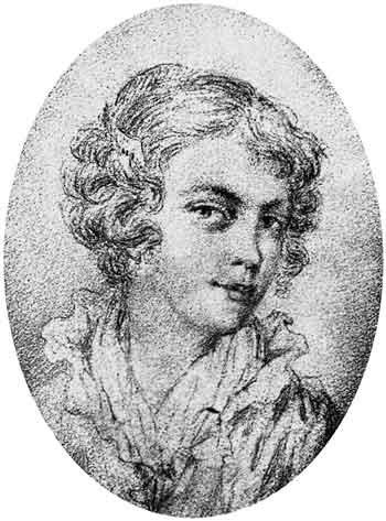 Маша Протасова в 1811 году. Рисунок В. Жуковского