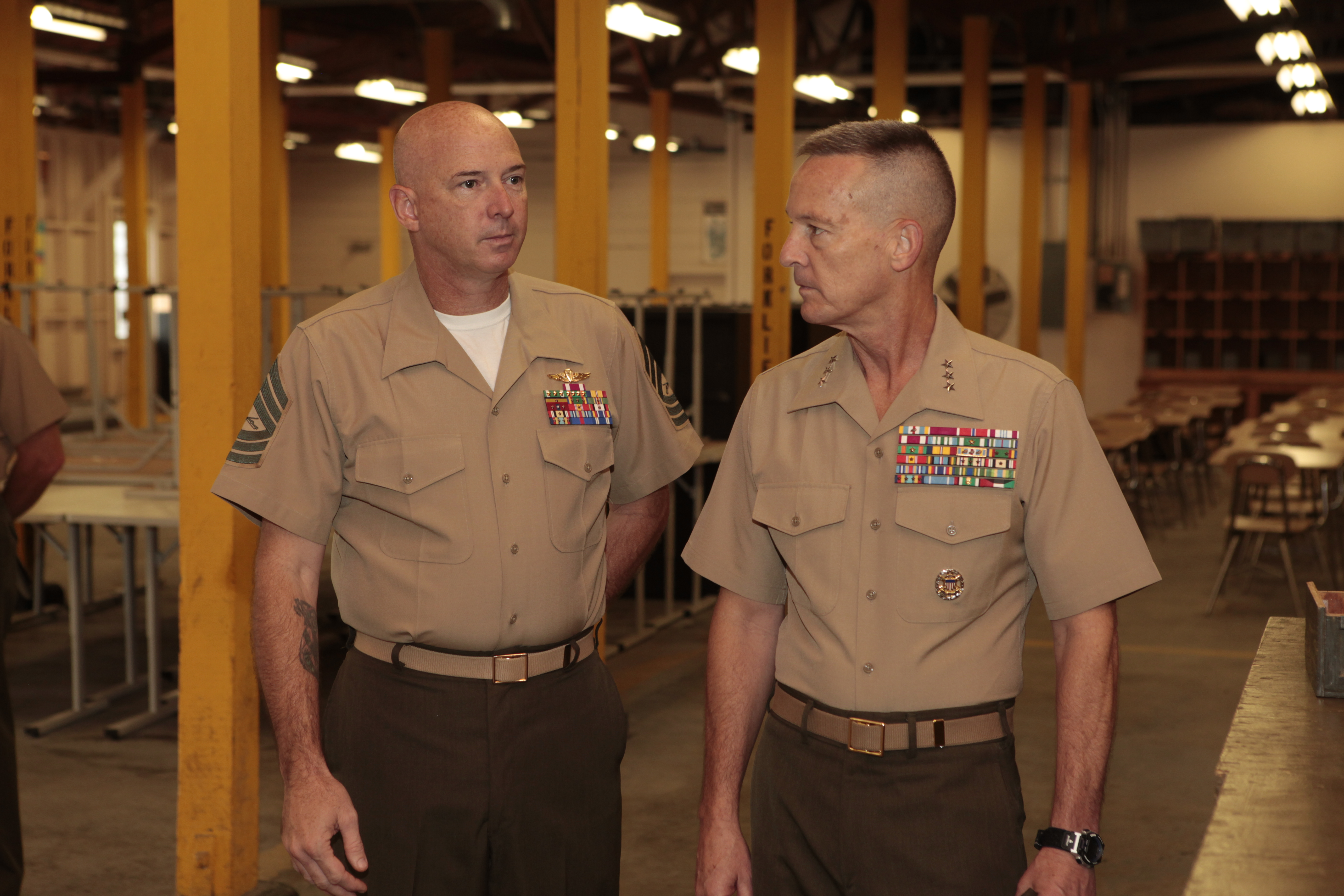 File:Master Sergeant Charles Meece (left), Staff Non ...