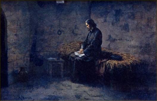 Mathauser, Josef - Hus ve vlhkém a tmavém vězení