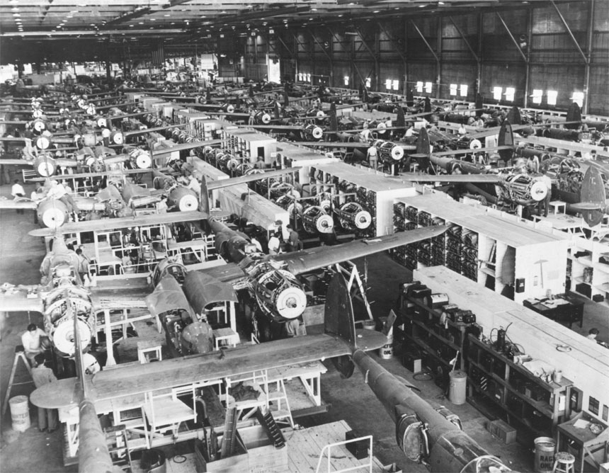 Verzamelingen '42 P38 LIGHTNING AIRPLANE ASSEMBLY LINE USA FLAG PHOTO LOCKHEED BURBANK CA WWII