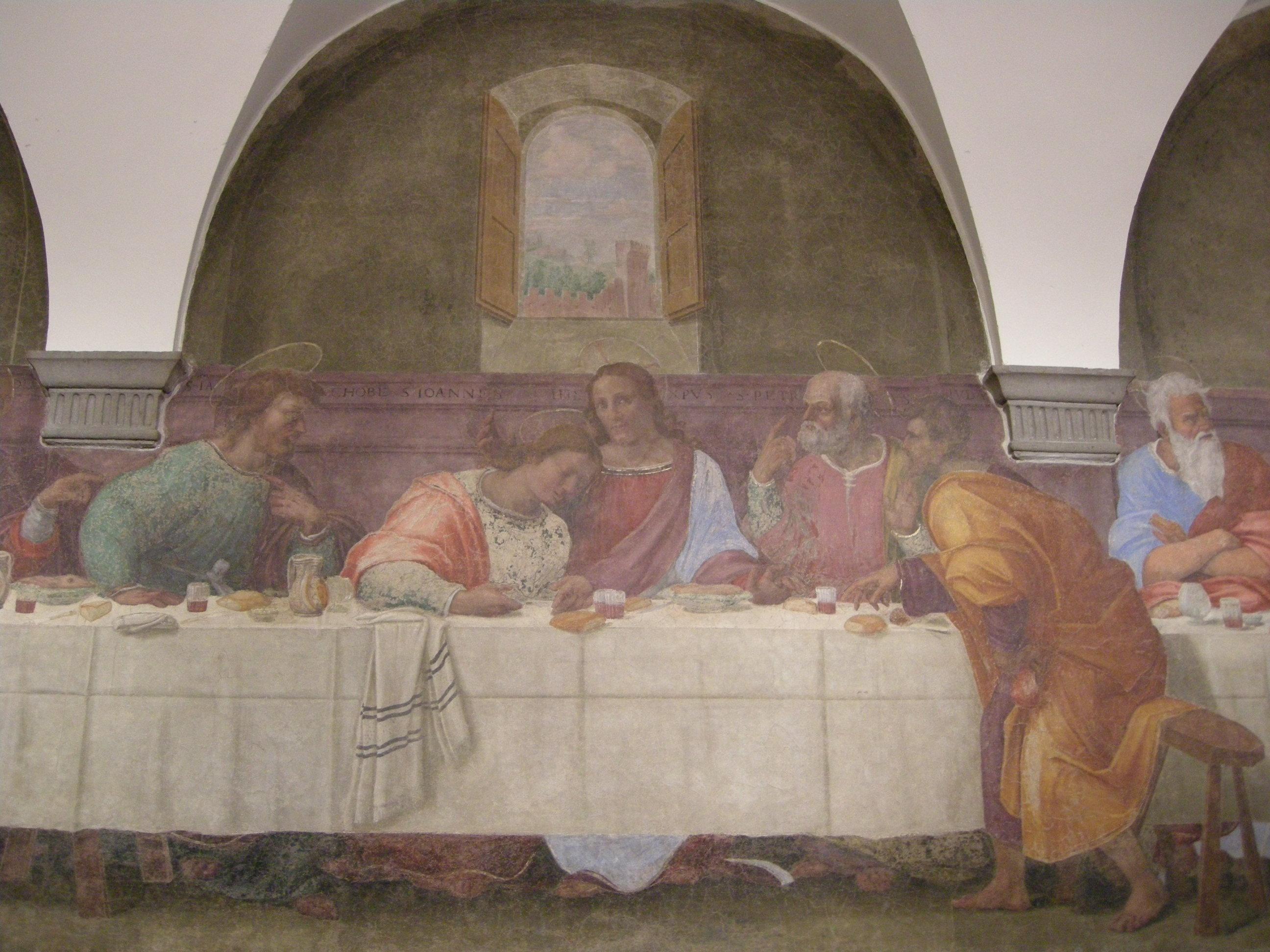 Franciabigio, Ultima Cena, 1514, affresco, Firenze, Convento della Calza