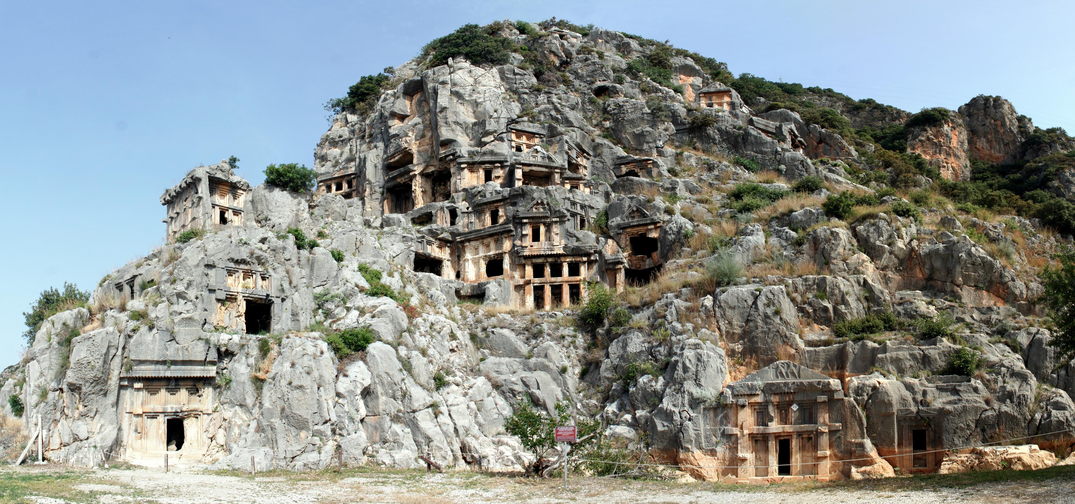 Myra Necropolis Demre Turkey Atlas Obscura