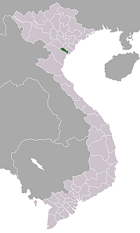 Location of Ninh Bình Province