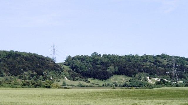 North Downs escarpment near Boxley - geograph.org.uk - 182328