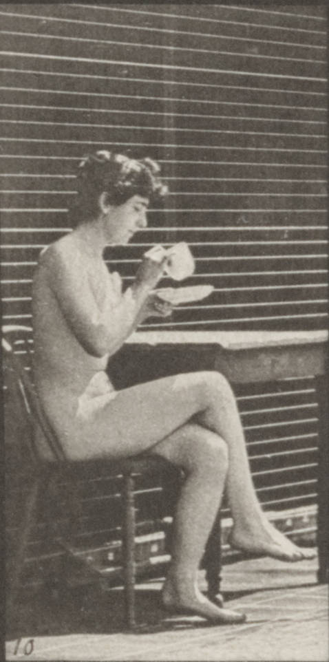 nude woman on a chair