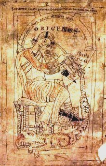 Representation of Origen writing from a manuscript of ''In numeros homilia'' XXVII dated to {{circa}} 1160