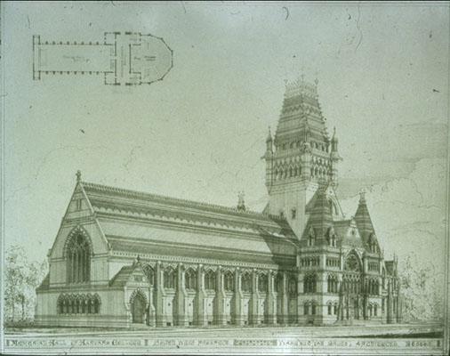 Tower as originally built, 1876–77