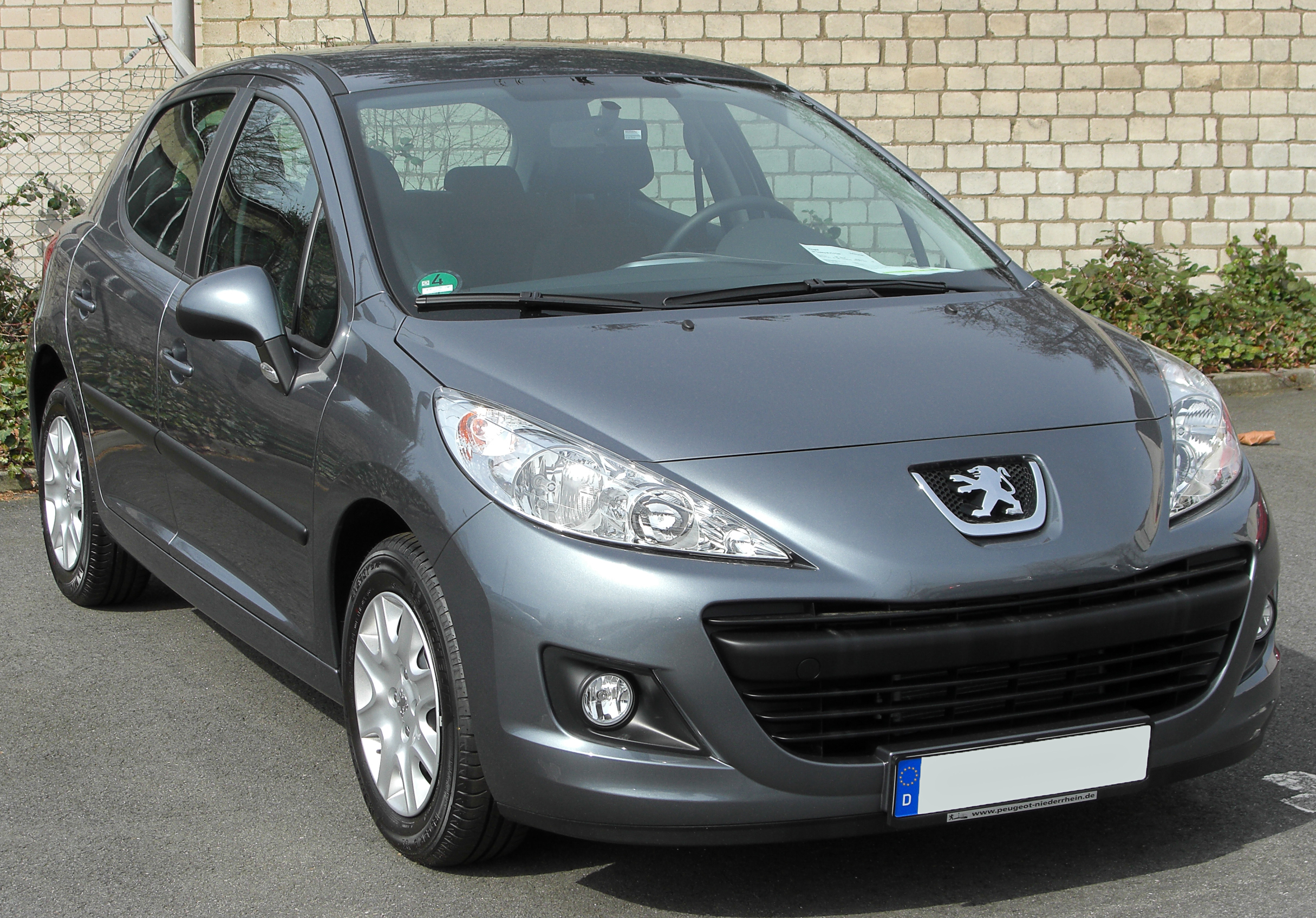 file peugeot 207 facelift front wikimedia commons. Black Bedroom Furniture Sets. Home Design Ideas